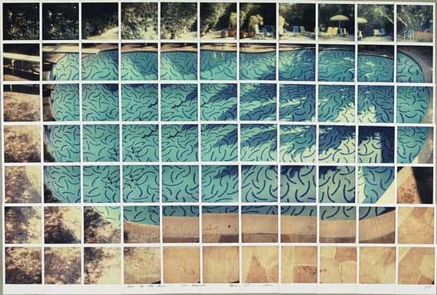 Piscina compuesta de polaroids, David Hockney