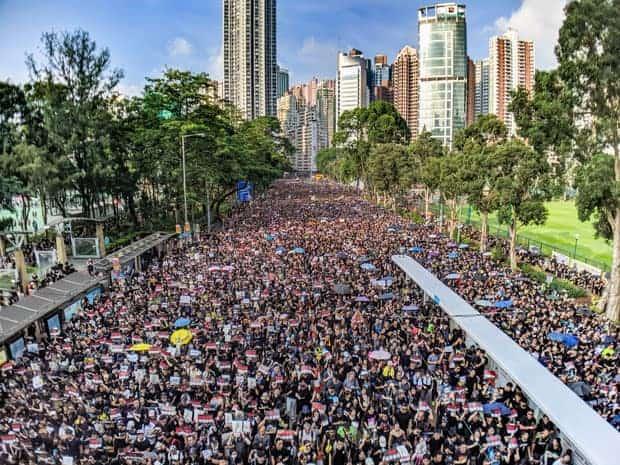 Protestas contra ley de extradición china en Hong Kong.