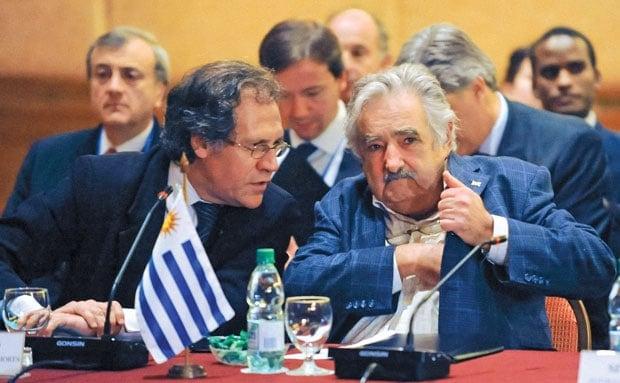 Luis Almagro y José Mujica