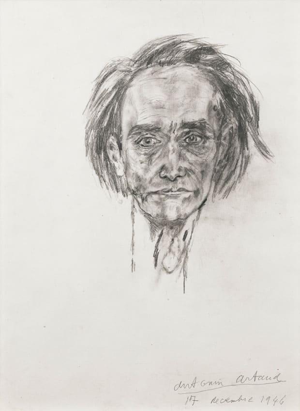 Autorretrato de Antonin Artaud.