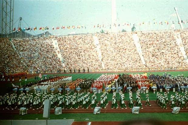 Inauguración de los Juegos Olímpicos de verano en 1972.