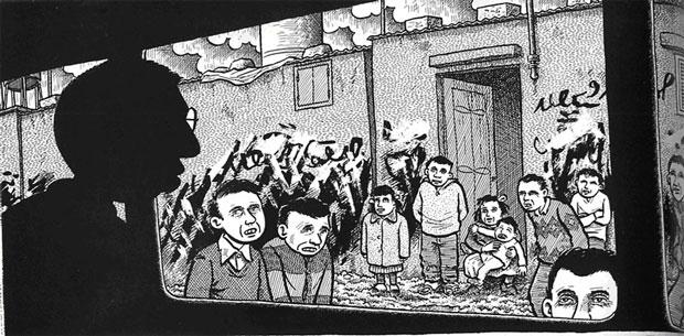 Panel de Palestina, de Joe Sacco.
