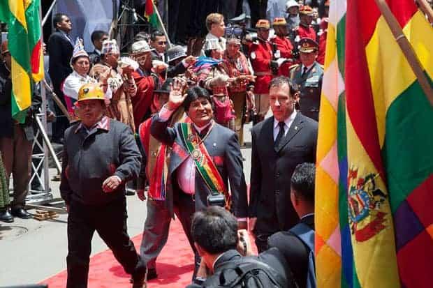 Toma de protesta de Evo Morales en Bolivia.