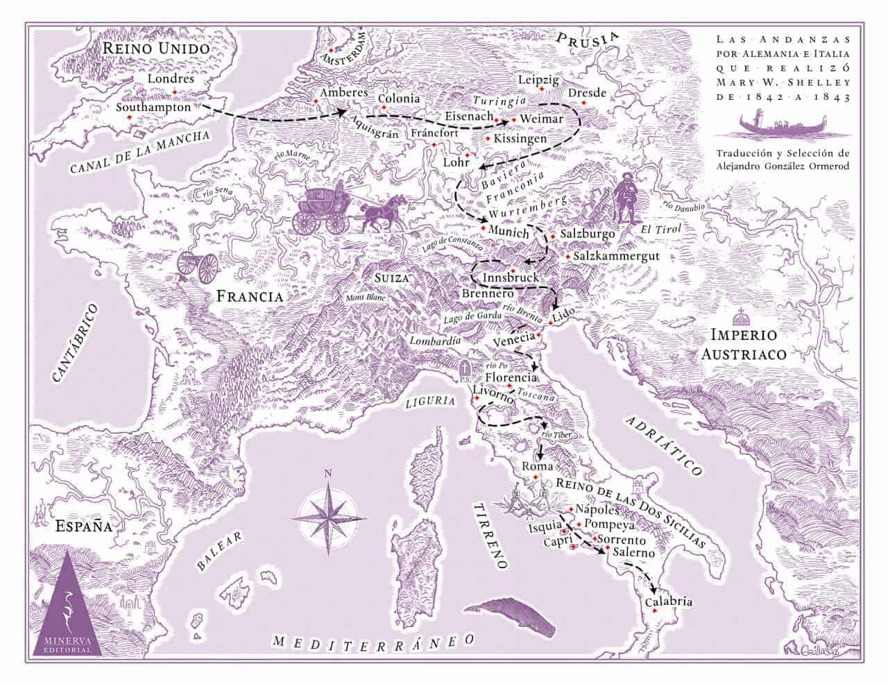 Mary S. Shelly viaje por Europa