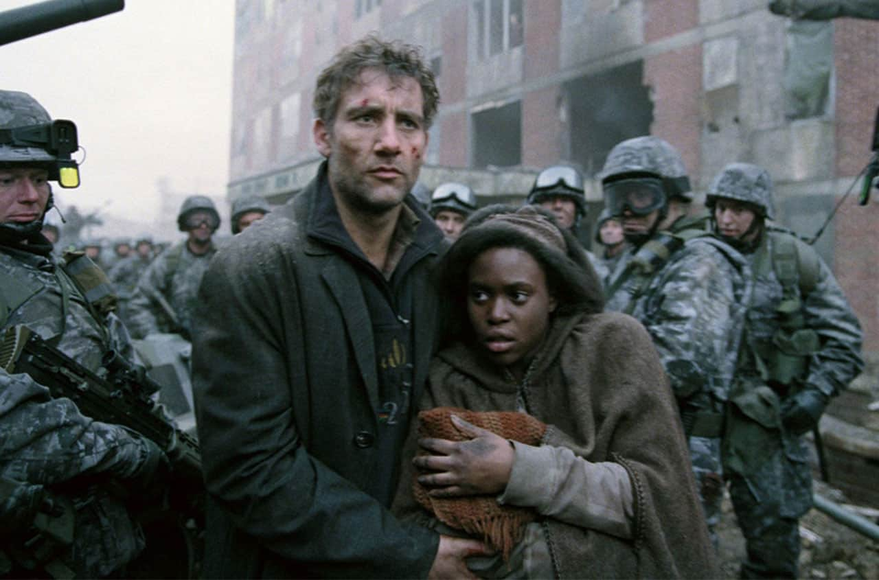 apocalipsis en el cine Children of Men (2006) de Alfonso Cuarón.