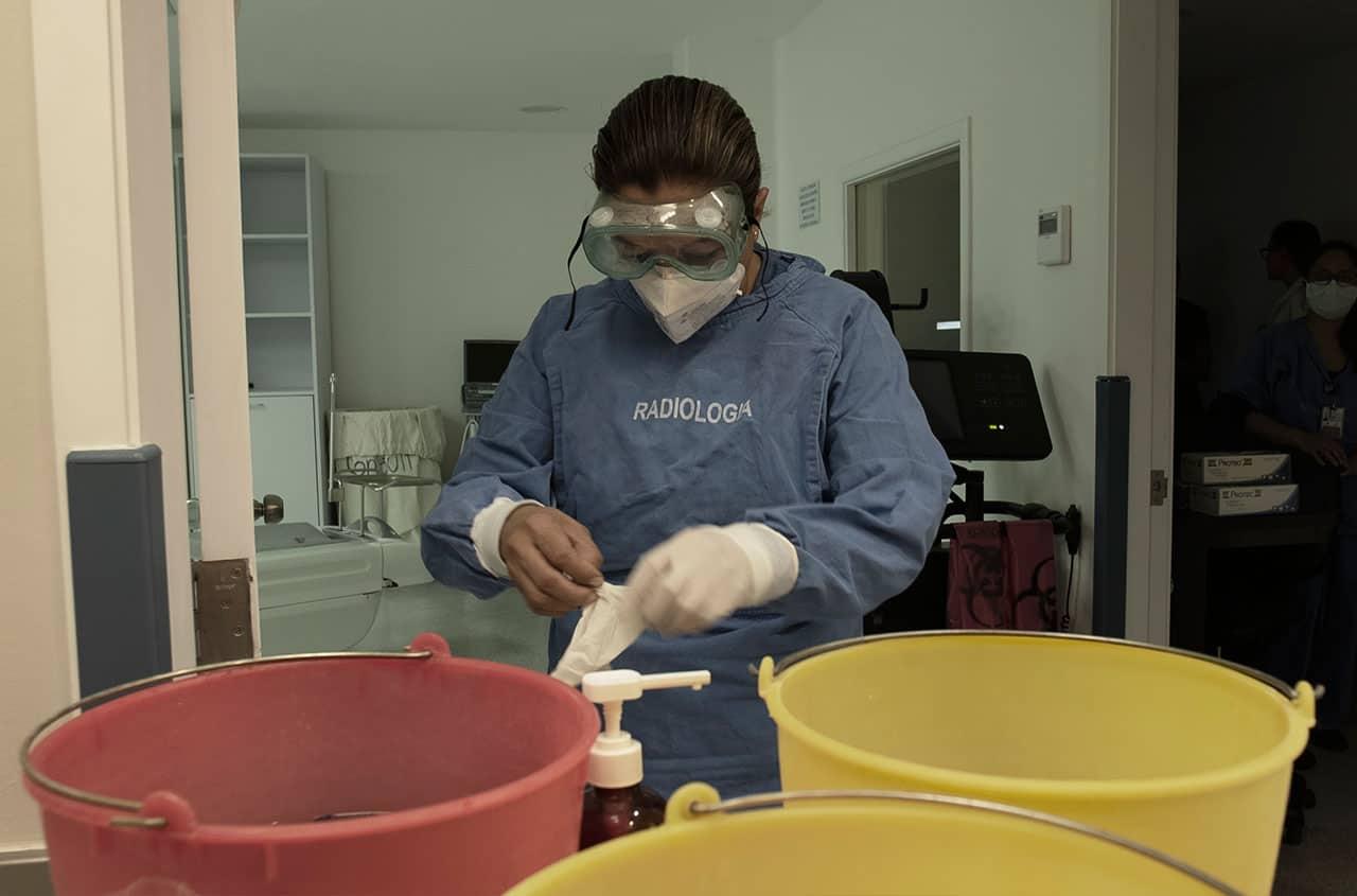 trabajadores de limpieza del hospital de Nutrición