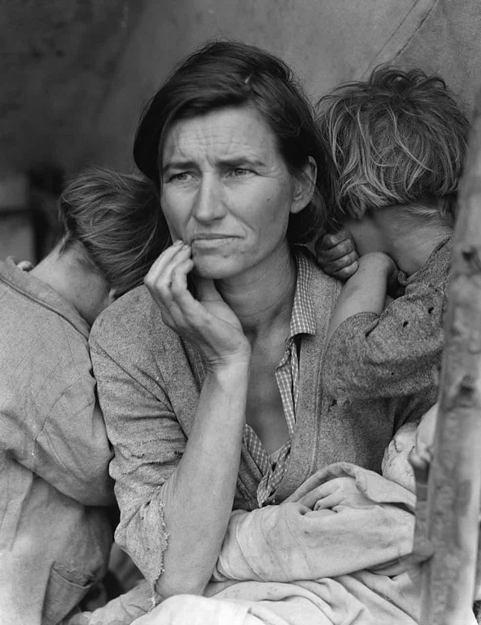 Madre migrante (1936),Dorothea Lange.