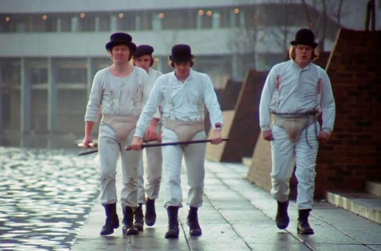 La naranja mecánica (1971) de Stanley Kubrick.