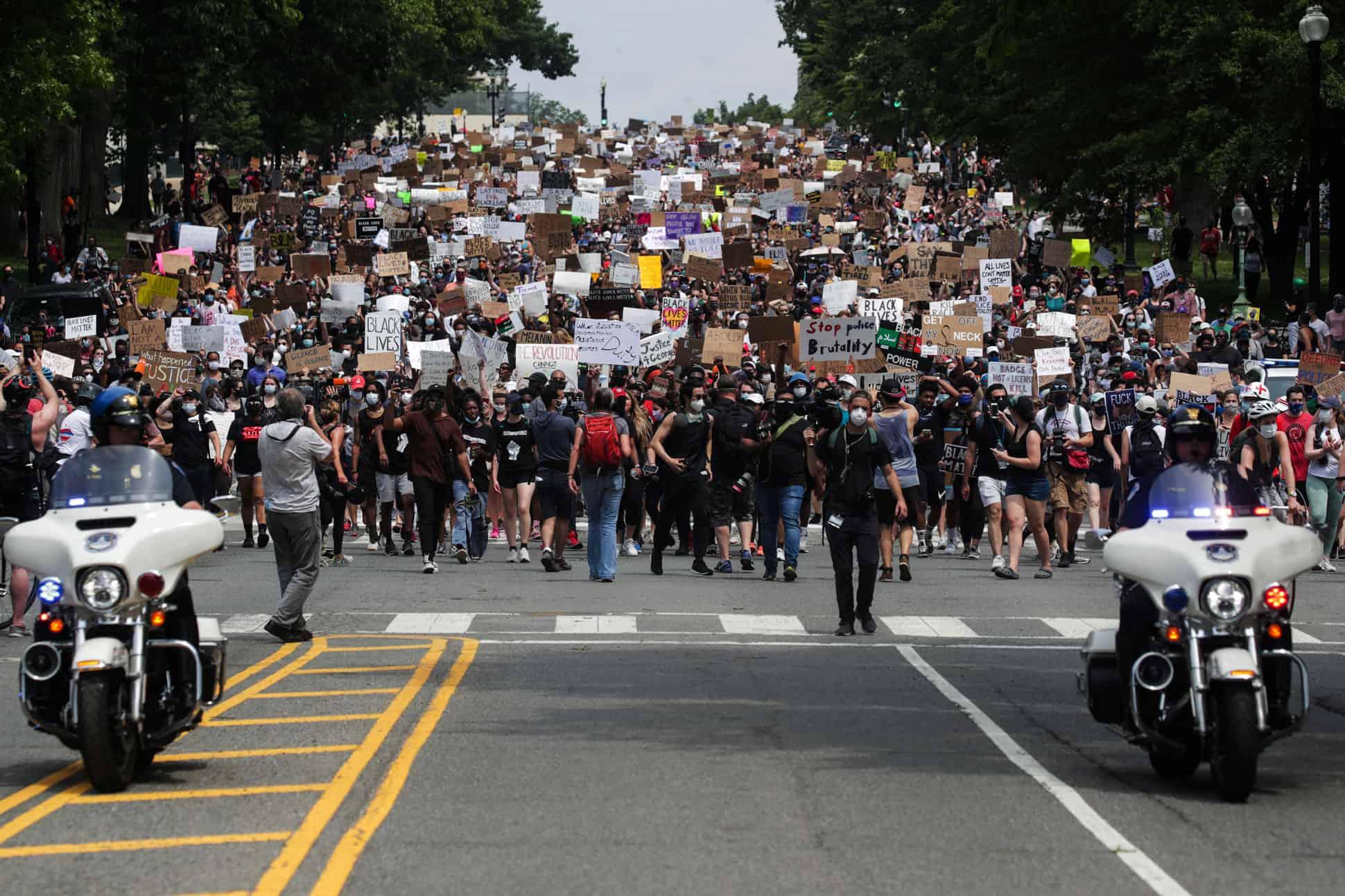 protestas-en-washigton-por-la-muerte-de-george-floyd