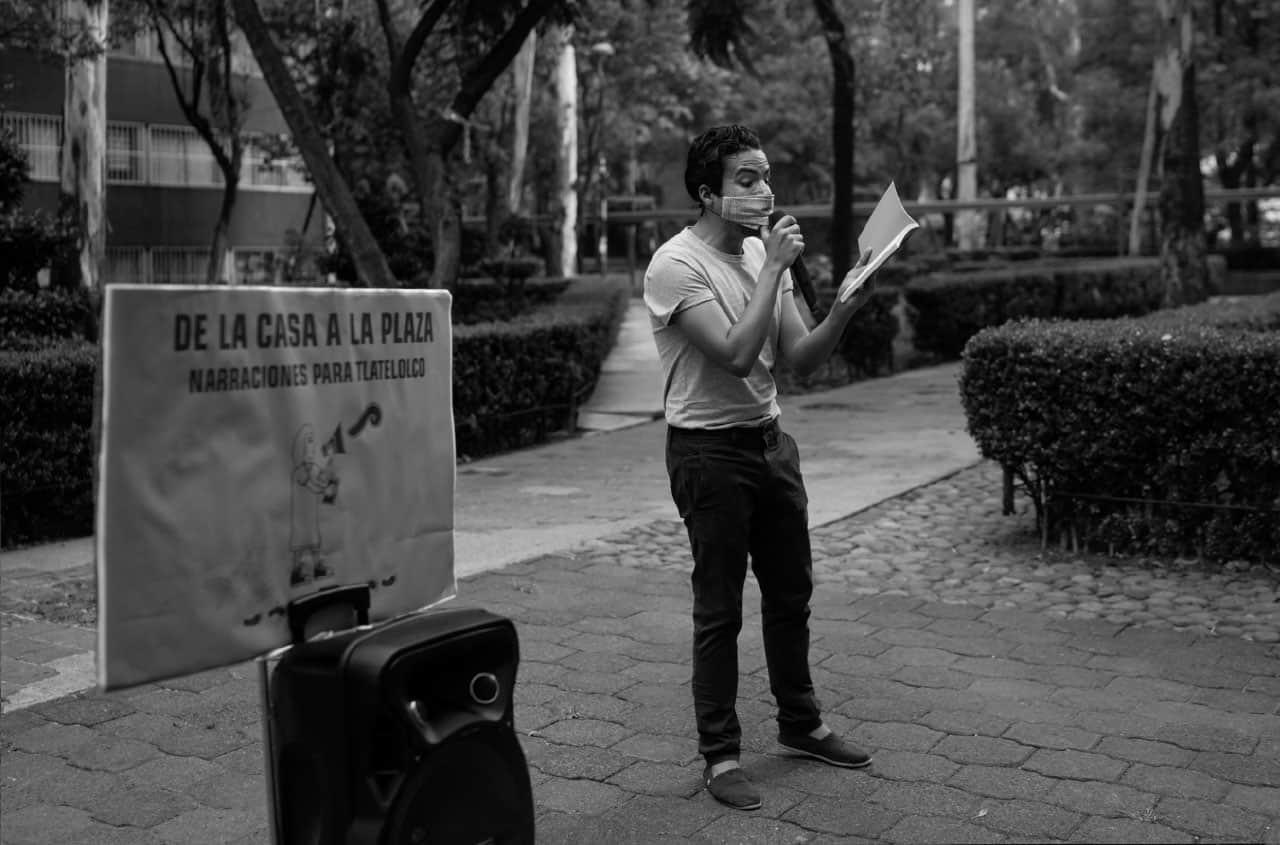 Percibald García, cuentacuentos de Tlatelolco.