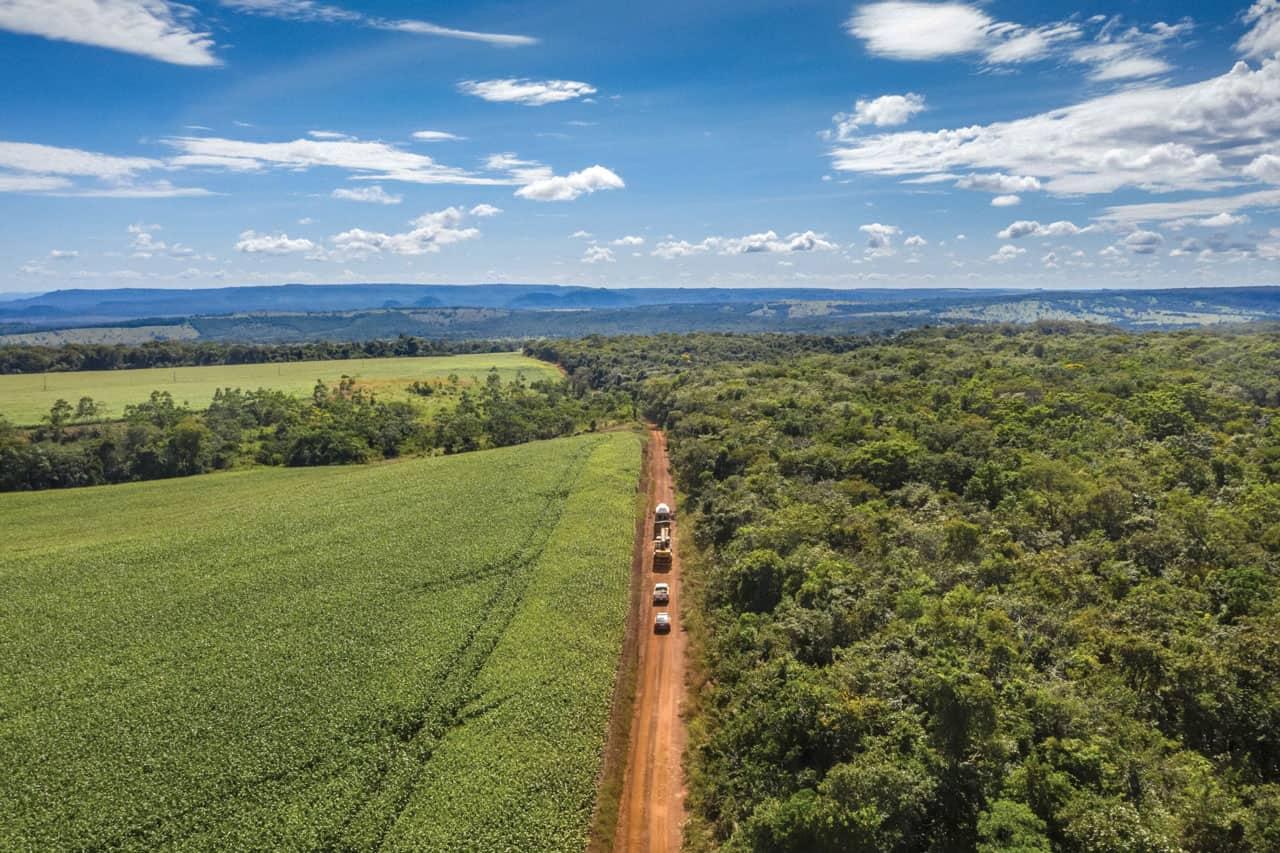 Vista área del viaje de Mara a Chapada dos Guimarães, Brasil.