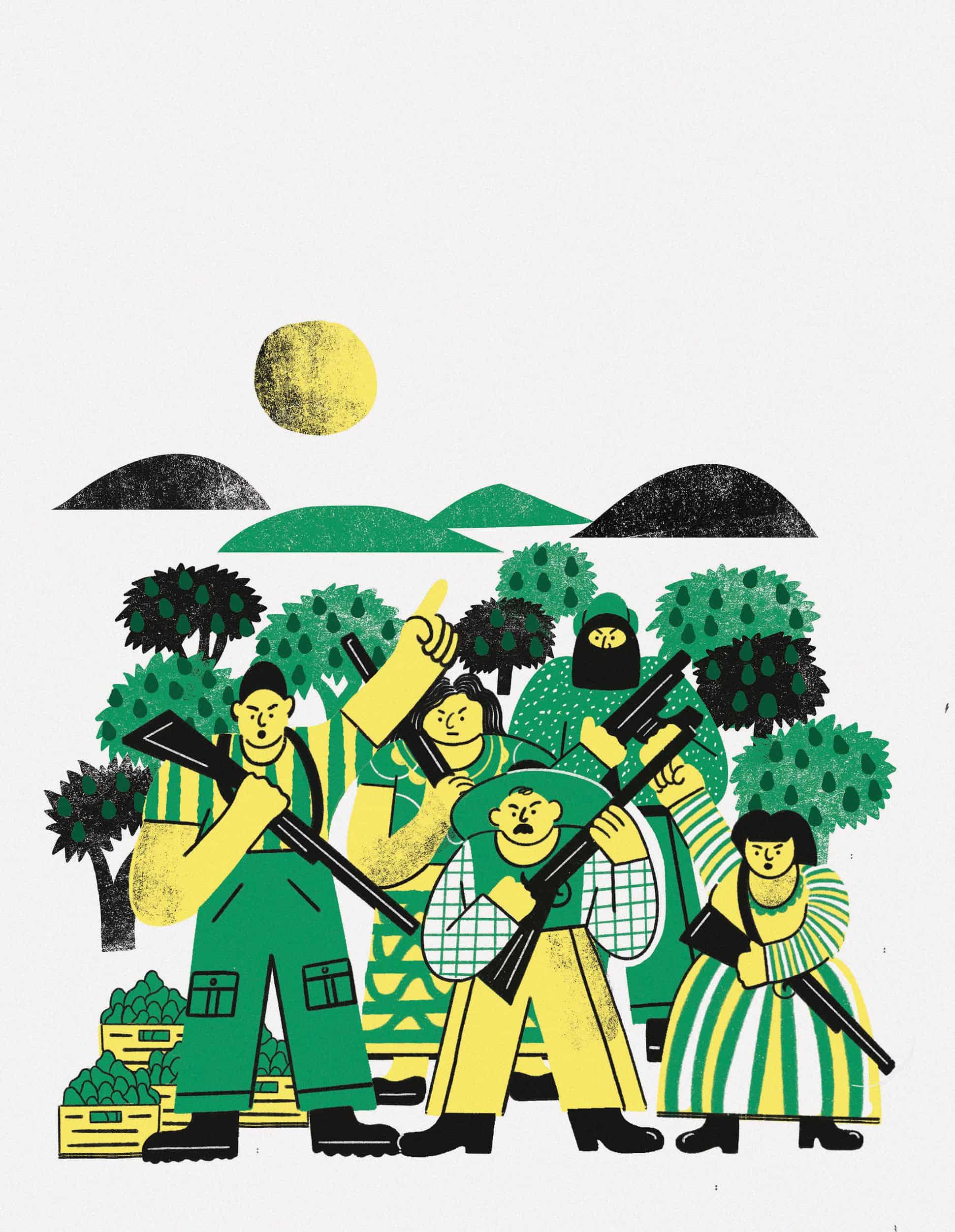 aguacate mexico Ilustración de Manuel Vargas gatopardo
