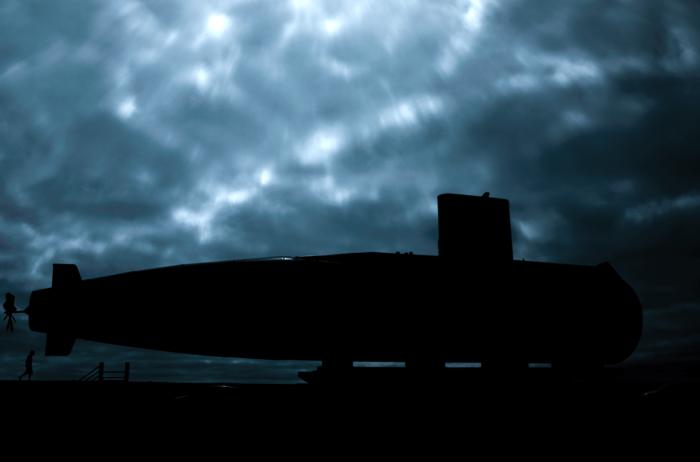 Monumento a los tripulantes del submarino ARA San Juan en la Base Naval delMar del Plata.