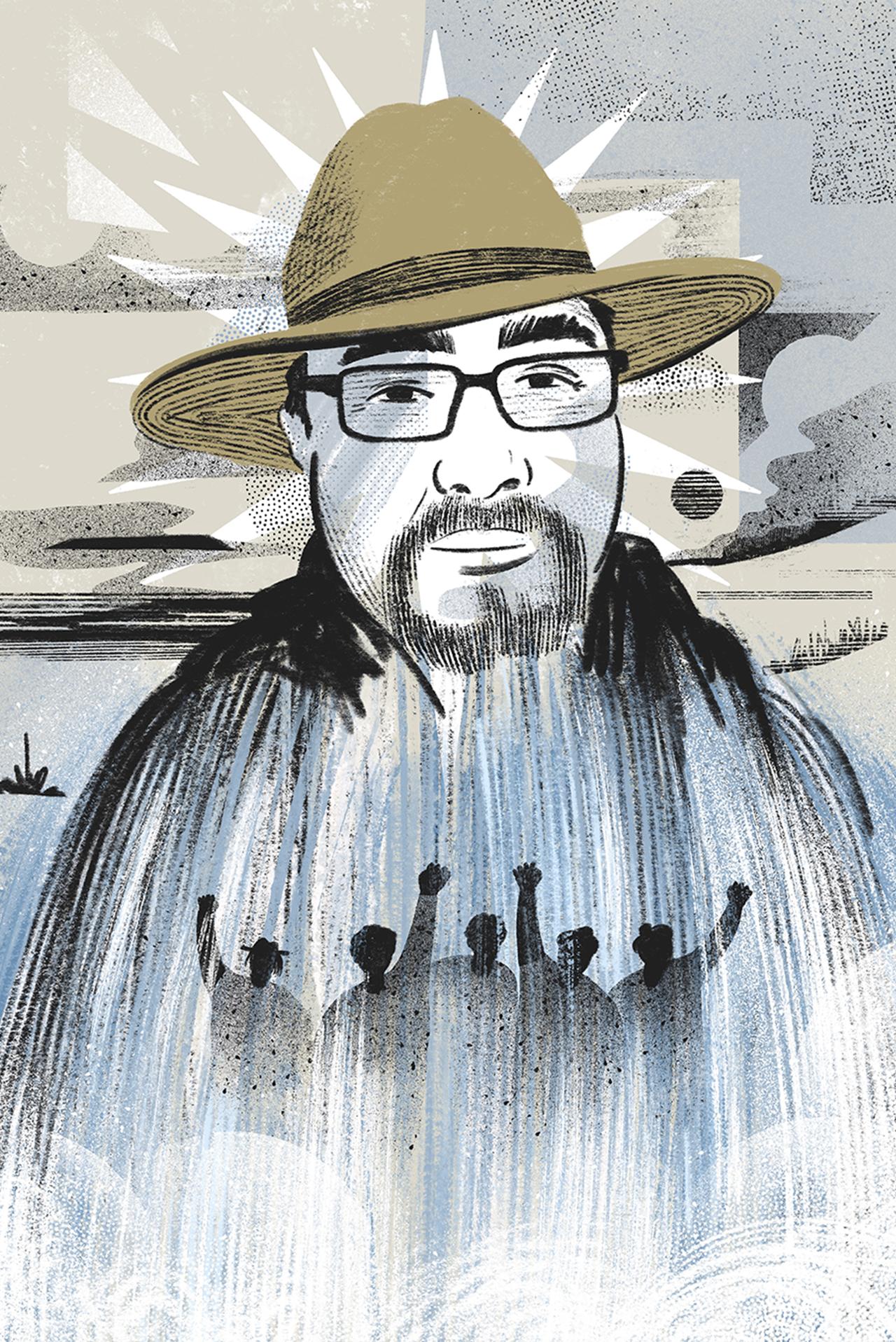 Orgullosamente indígena kumiai, Óscar Eyraud Adams fue uno de los fundadores del movimiento Mexicali Resiste, el cual defiende el agua de la región. Su asesinato en 2020 conmovió a su comunidad pero también fortaleció sus convicciones ambientalistas.